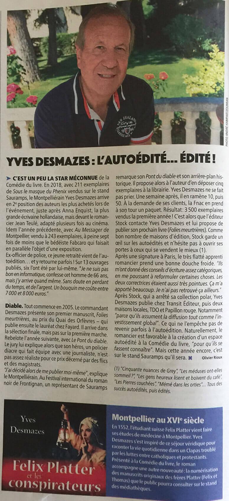 Article Presse Felix Platter